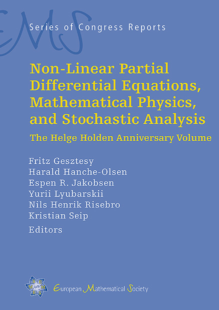Non-Linear Partial Differential Equations, Mathematical Physics, and Stochastic Analysis
