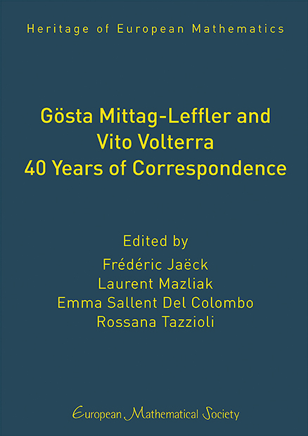 Gösta Mittag-Leffler and Vito Volterra. 40 Years of Correspondence