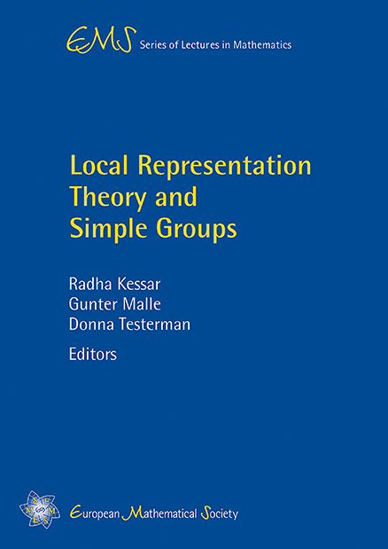 Local Representation Theory and Simple Groups