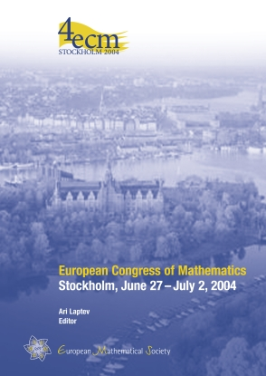 European Congress of Mathematics Stockholm, June 27 – July 2, 2004