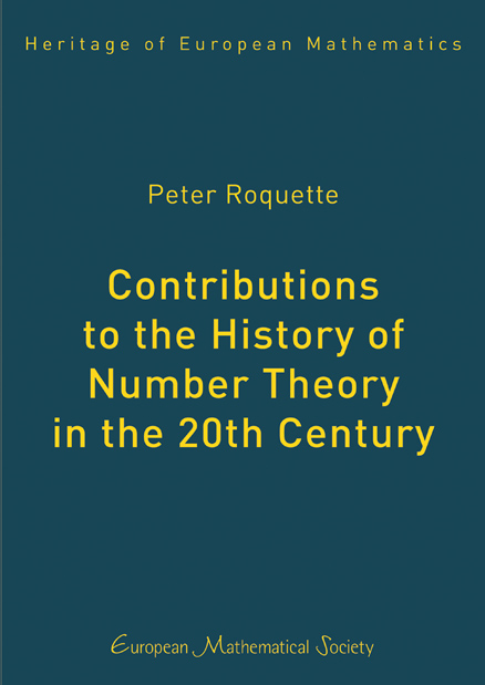 Contributions to the History of Number Theory in the 20th Century