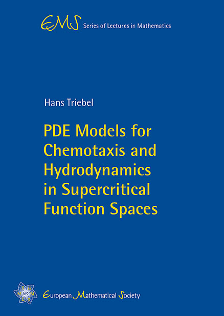 PDE Models for Chemotaxis and Hydrodynamics in Supercritical Function Spaces